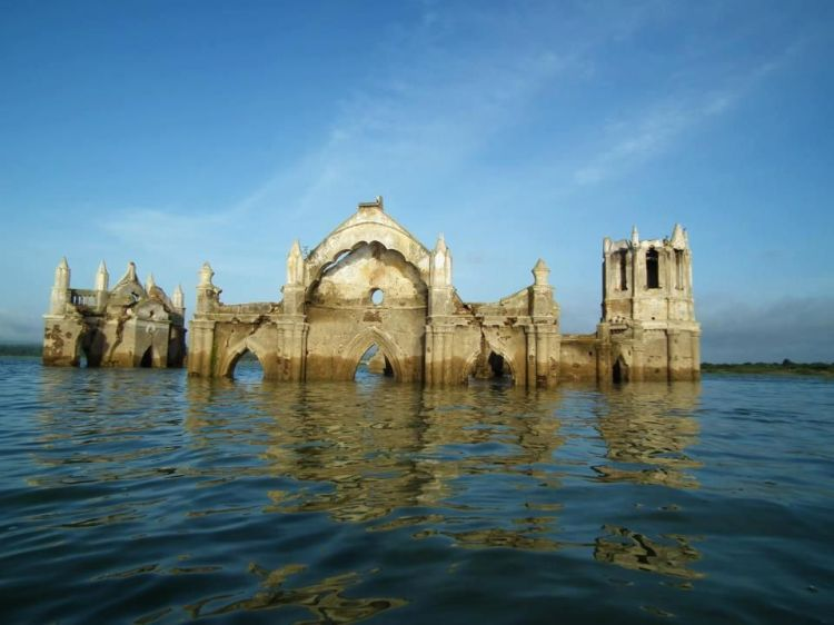 Shettihalli Church submerged in water